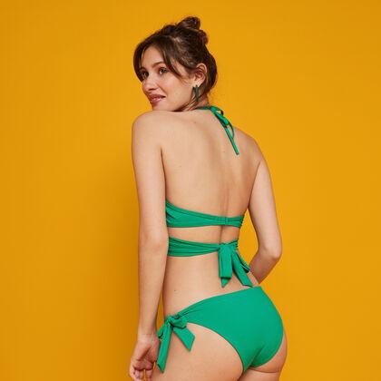 Bas de maillot de bain vert émeraude fusioniz vert.