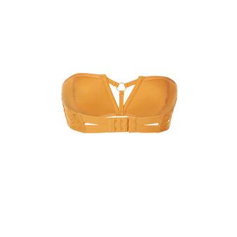 Soutien-gorge bandeau jaune moutarde plumiz dentelliz  yellow.