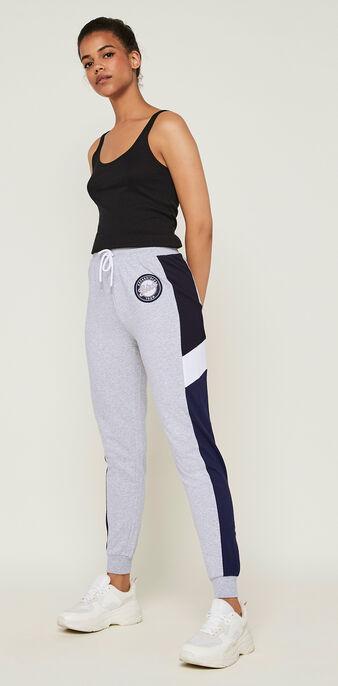 Pantalon jogging colorbandiz gris.