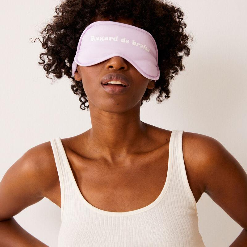 set masque et culotte à imprimé texte - lilas;