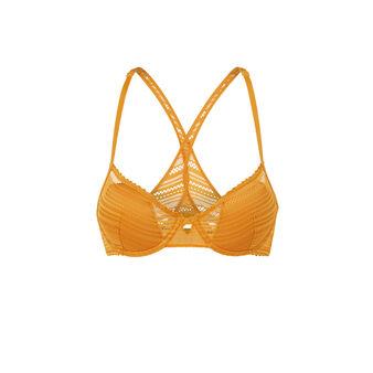 Soutien-gorge ampli jaune moutarde crossiz yellow.