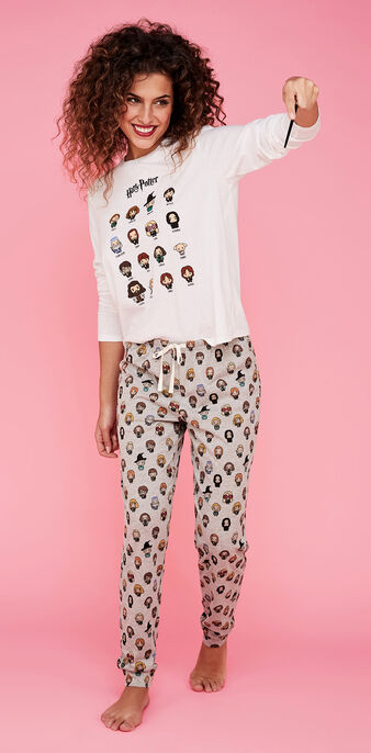 Ensemble de pyjama blanc harrypiz white.