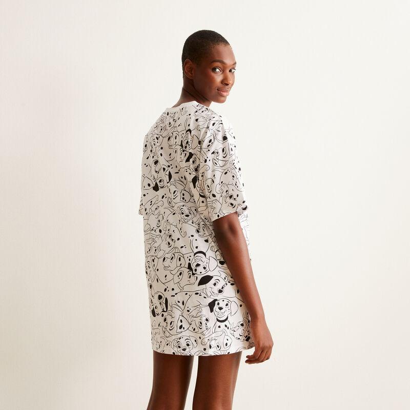 tunique à motifs 101 dalmatiens - blanc ;
