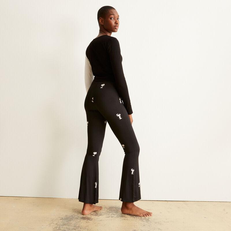 pantalon à motifs Snoopy - noir;