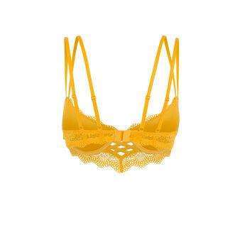 Soutien-gorge bustier push jaune totoiz yellow.