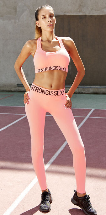 Legging de sport rose becomiz pink.