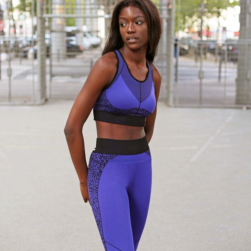 legging à imprimé léopard - violet;