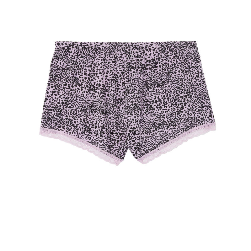 short à imprimé léopard en jersey - lilas;