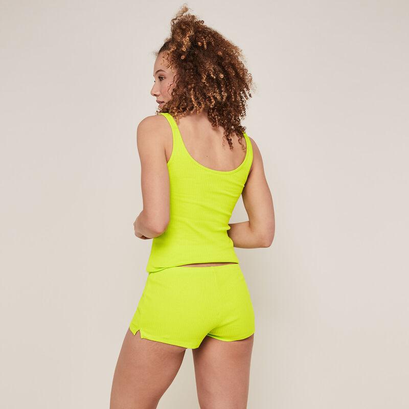 Short uni en jersey - vert citron;
