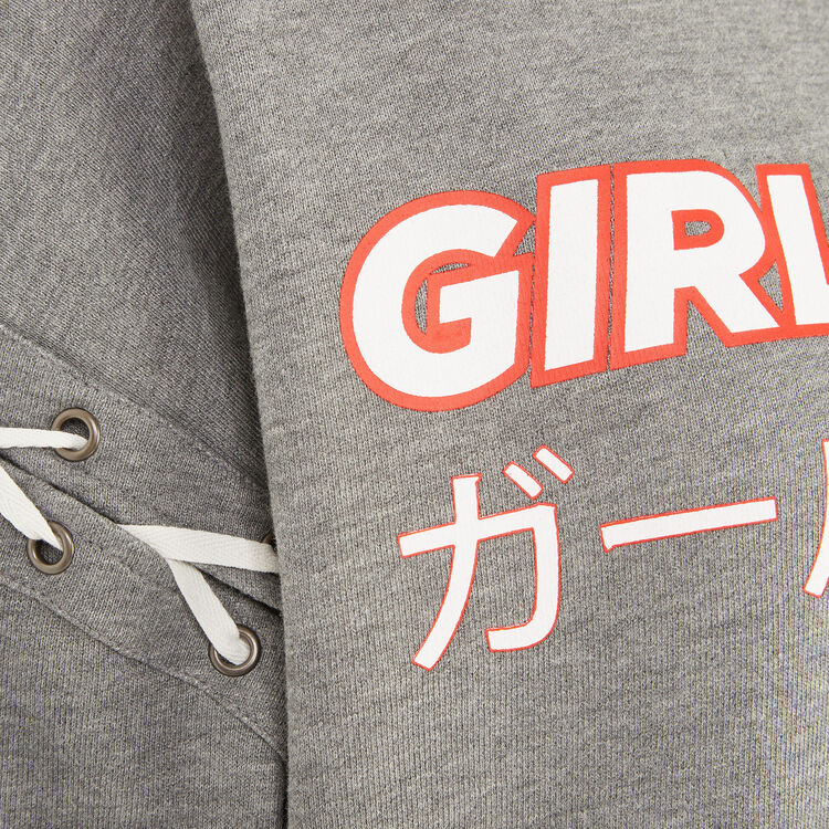 Sweat gris girlgiz;