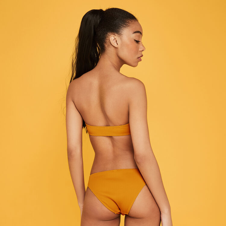 Culotte couleur safran gaufriz yellow.