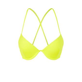 Alohiz yellow bikini top yellow.