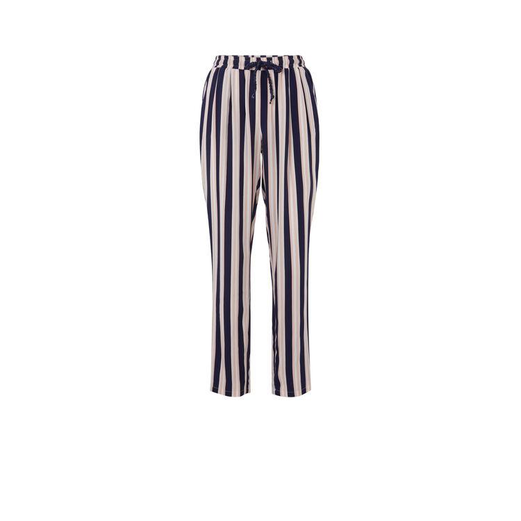 Pantalon a rayures fleurchiniz bleu marine.
