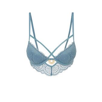Soutien-gorge bustier push bleu precieusiz blue.