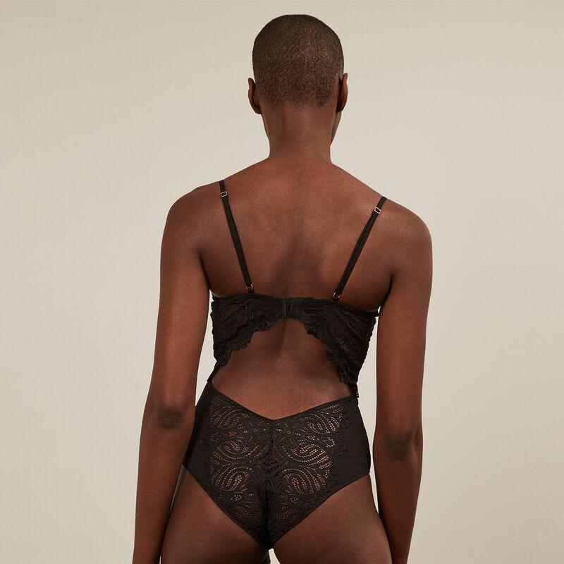 Body push up en dentelle - noir ;