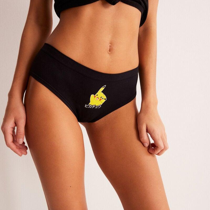 shorty à imprimé Pikachu - noir;