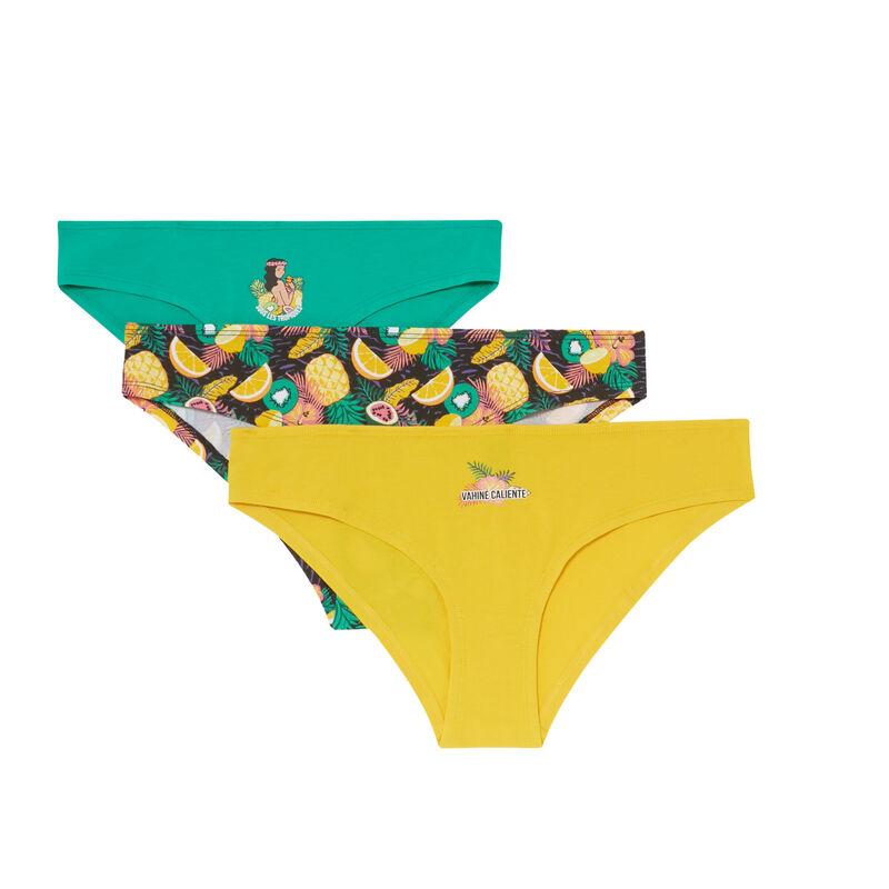 lot de 3 culotte hawaï - vert;