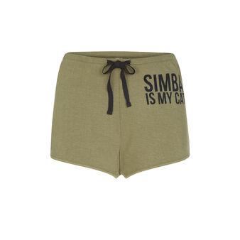 Simbaiz khaki green shorts green.