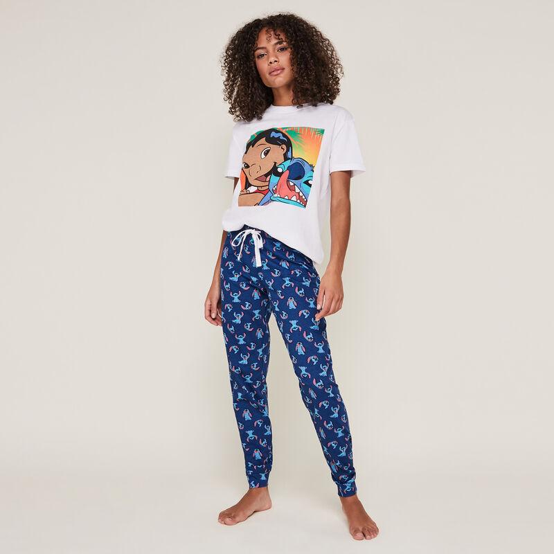 pantalon à imprimé stitch stitchnuagiz;