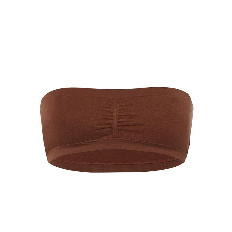 soutien-gorge bandeau uni - marron;