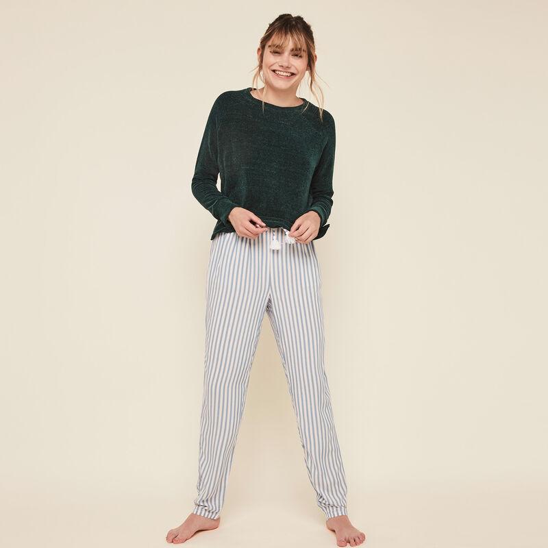 Pantalon fluide à rayures bluerayiz;