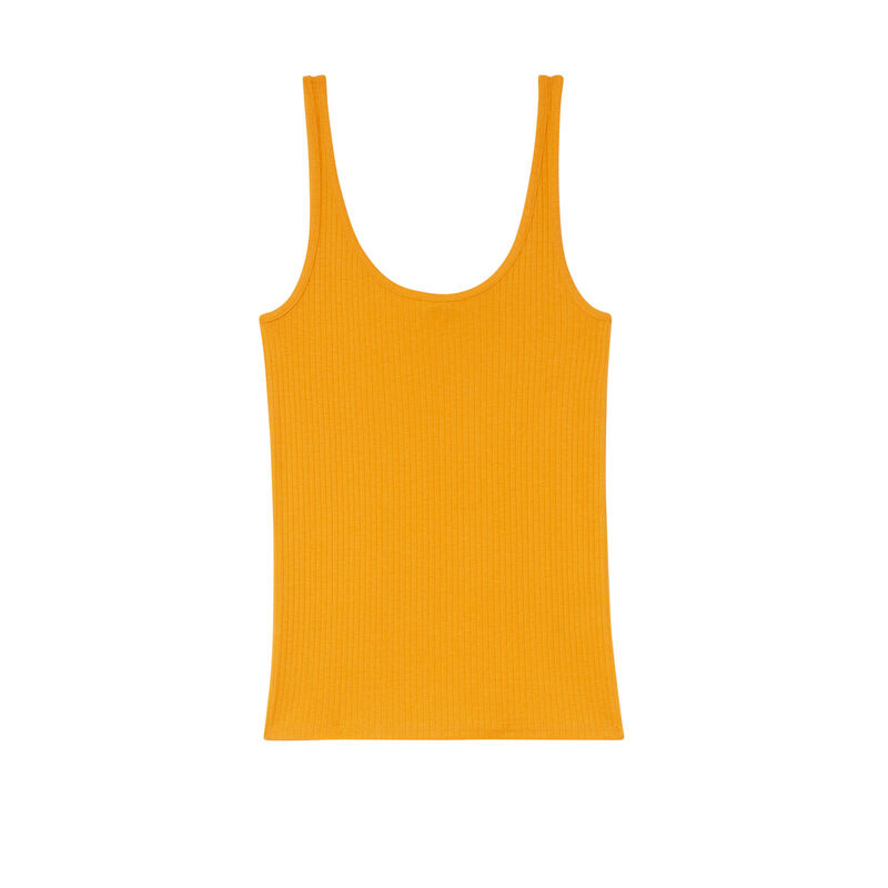 top débardeur en jersey uni - mangue;