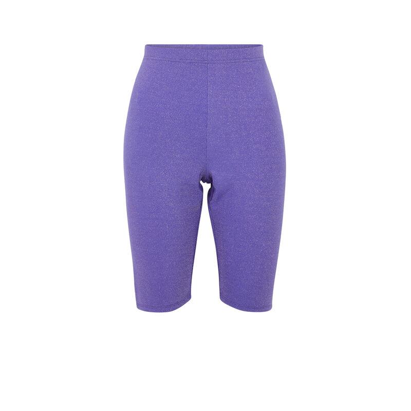 Shorty cycliste fils métallisés - violet;