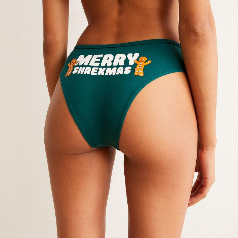 shorty à message Merry Shrekmas - vert;