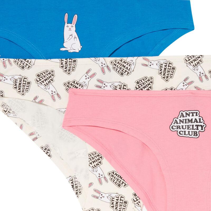 lot de 3 culottes animal lover - bleu;