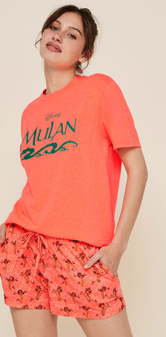 Top corail fluo castmulaniz rose.