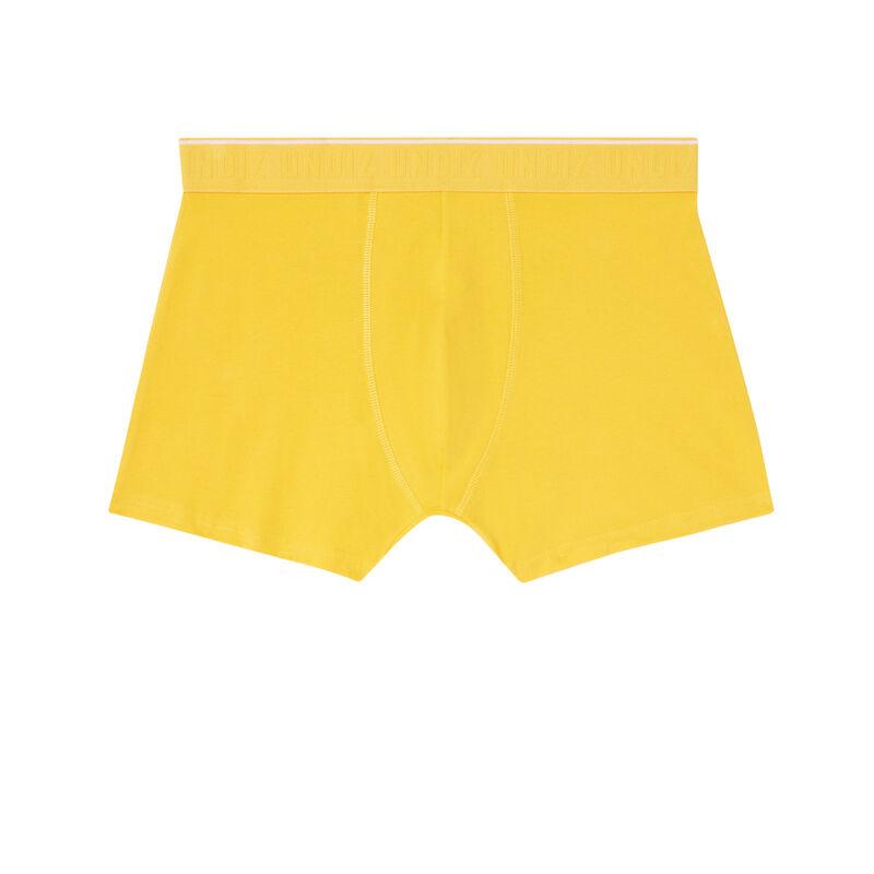 boxer à message attrape-moi - jaune;