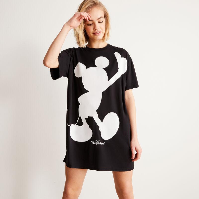 tunique à imprimé Mickey - noir;