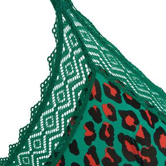 Soutien-gorge triangle vert émeraude hindiz green.