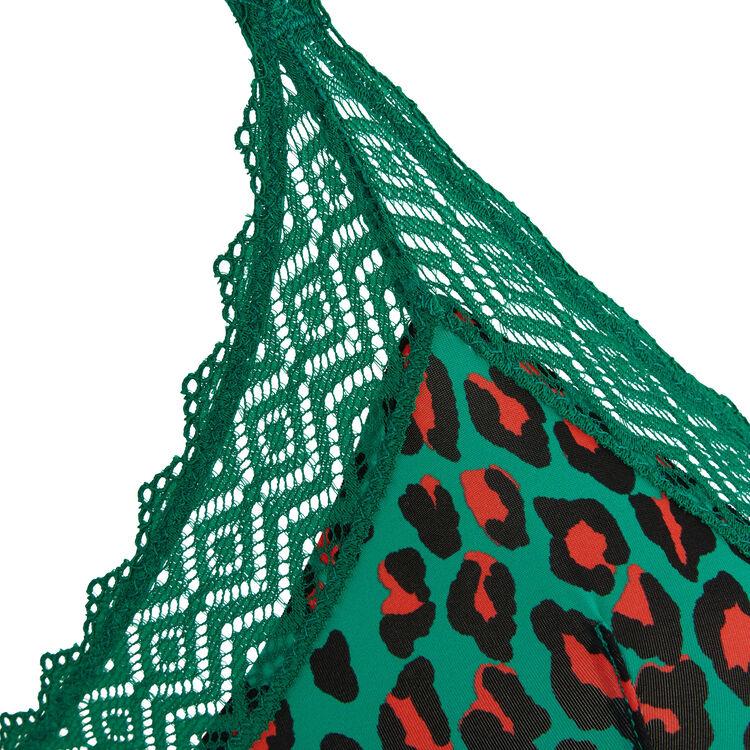 Soutien-gorge triangle vert émeraude hindiz;