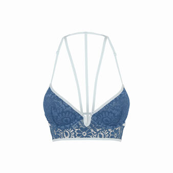 Soutien-gorge bustier push bleu vidiz blue.