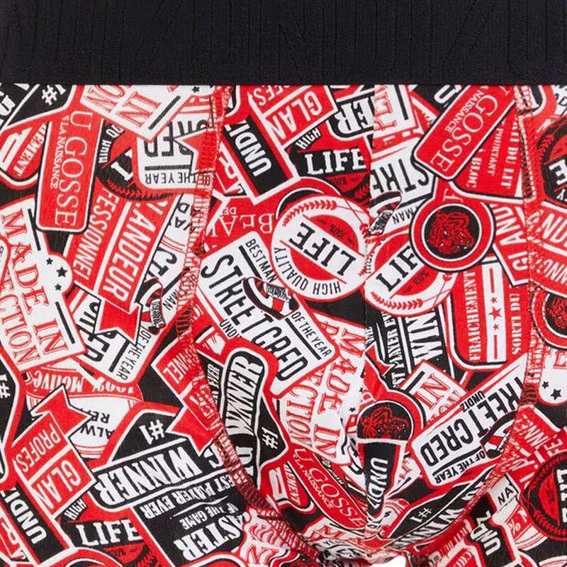 Boxer en coton imprimé autocolliz;