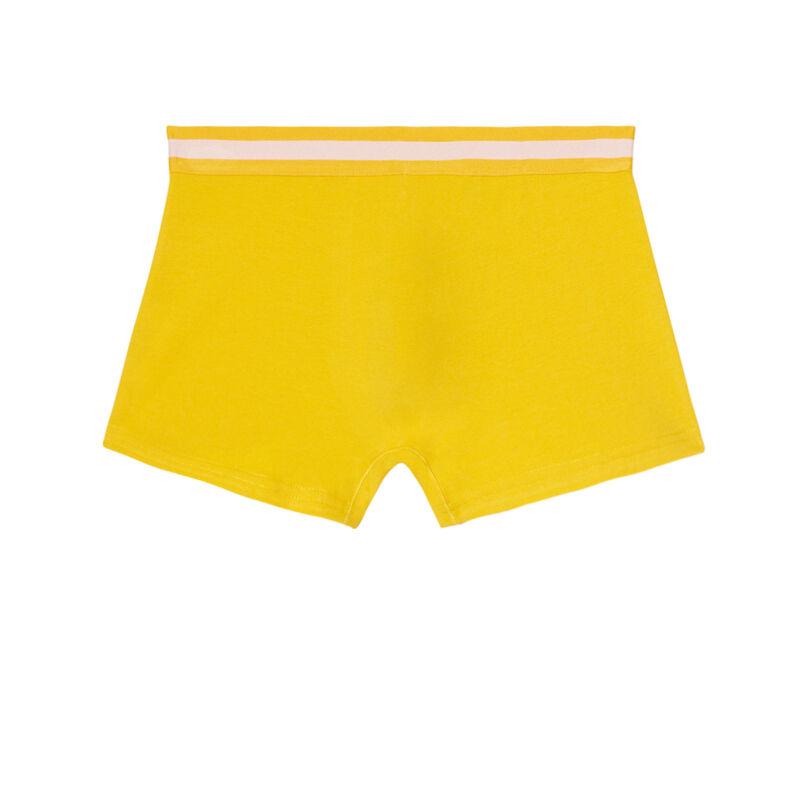 boxer uni en coton - jaune;