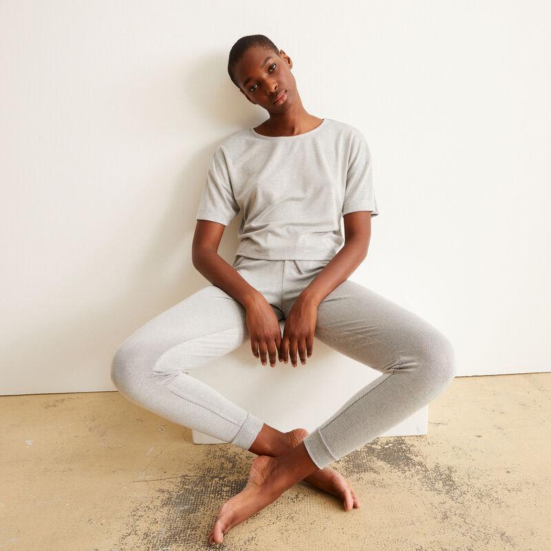pantalon côtelé - gris;