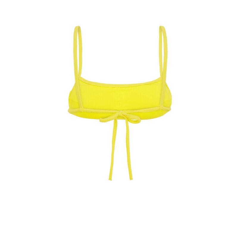 Haut de maillot de bain jaune sikiniz;