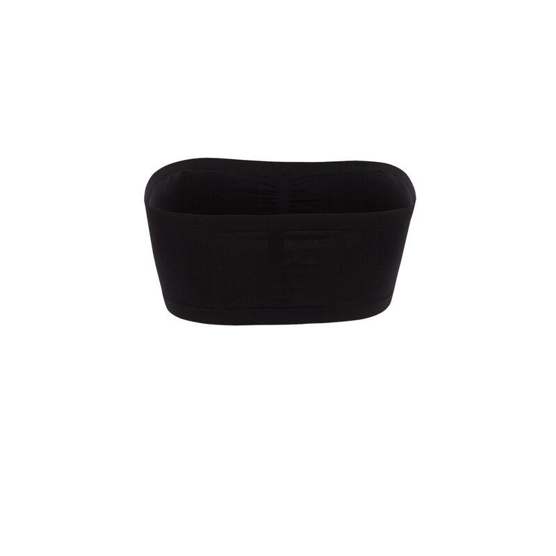 bandeau froncé élastiqué - noir  ;