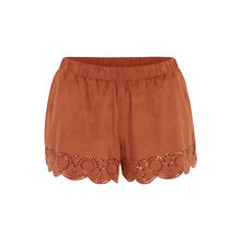 Short camel suediniz brown.