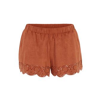 Short camel suediniz brown.