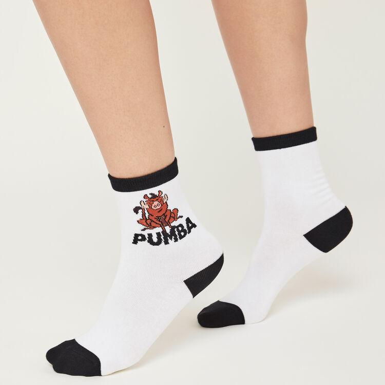 Chaussettes blanches pumiz;