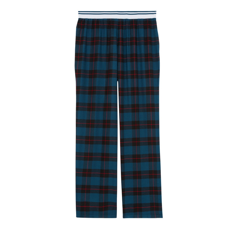 pantalon à grands carreaux - bleu;