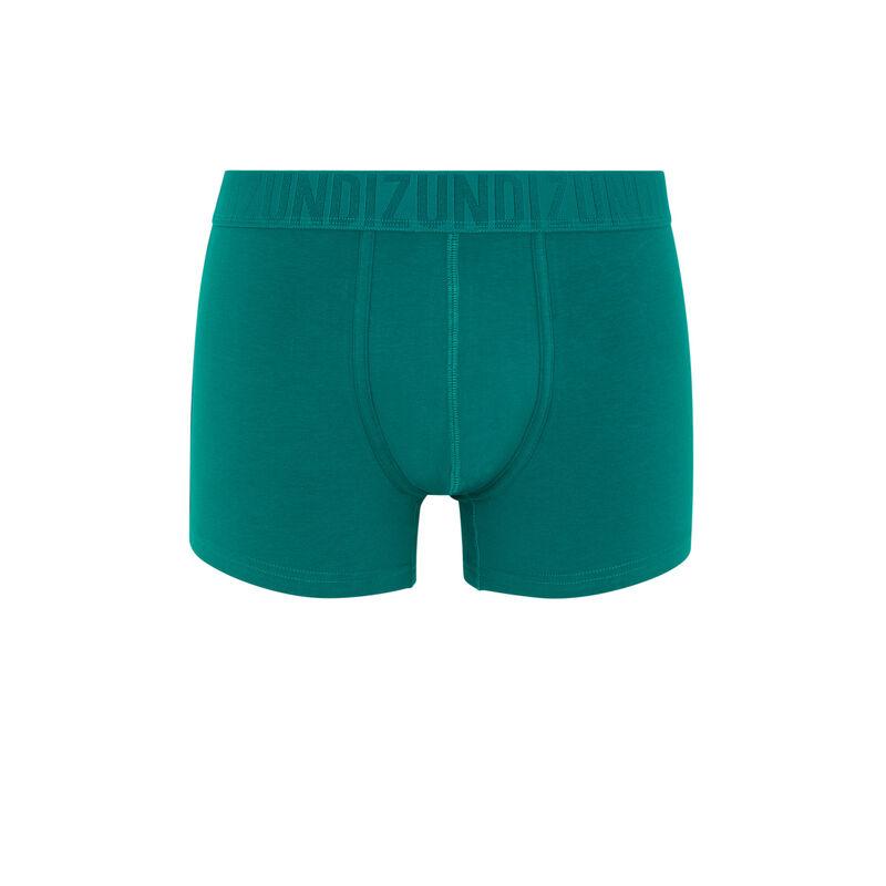 boxer en coton bio uni - vert;