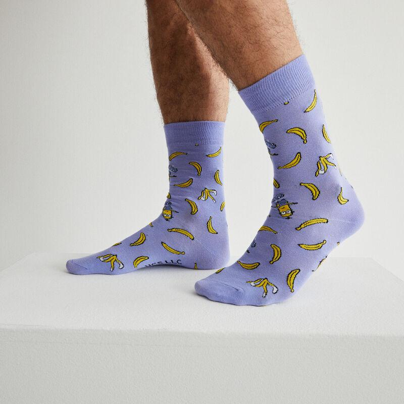 chaussettes Les Minions et bananes - bleu;
