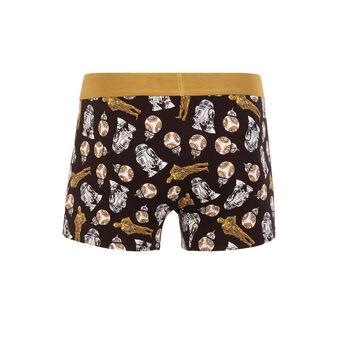 Droidiz black boxer shorts black.