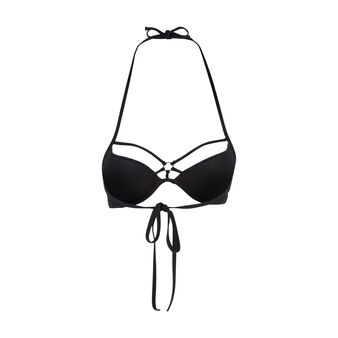 Haut de maillot de bain push noir crochiz black.