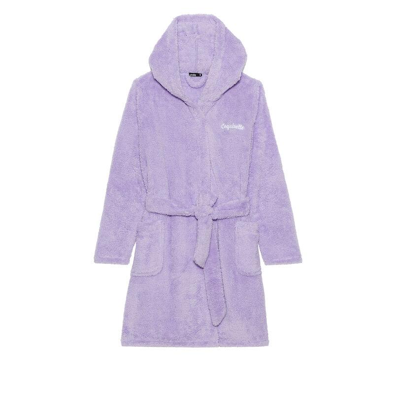 peignoir polaire à message coquinette - violet;
