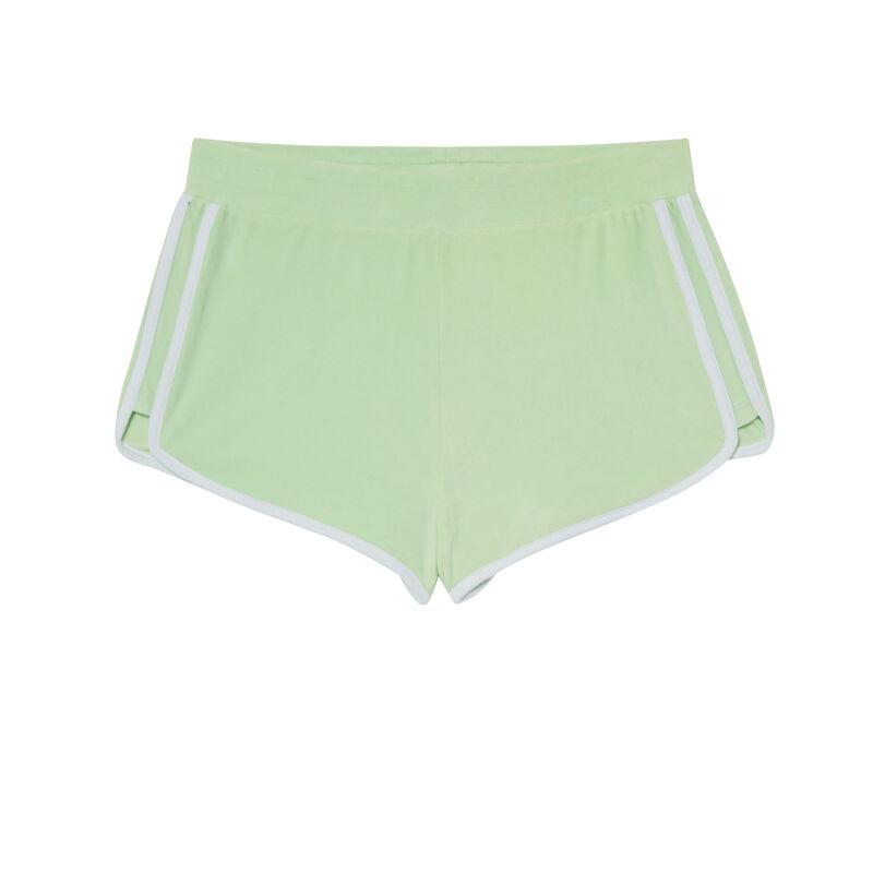 short en velours - vert;